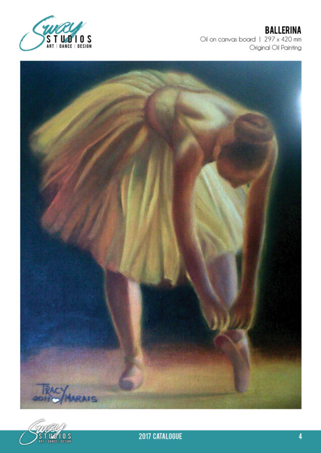 Ballerina oil painting