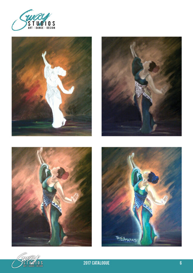 sway studios tracy marais oil painting african dancer