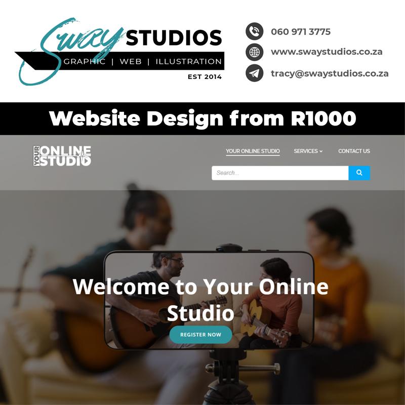 Website Design at sway studios