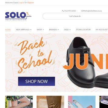 Solo Shoes website design