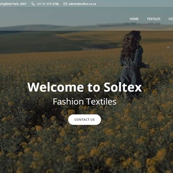 Soltex website design