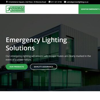 Genstar Emergency Lighting Solutions website